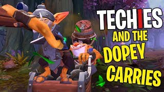 Techies and the Dopey Carries - DotA 2 Funny Moments