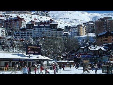 Ski Fahren in der Sierra Nevada