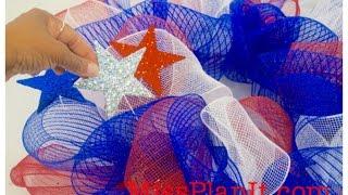 DIY: Tutorial Geo Mesh Fourth Of July Wreath For Under $15.00!