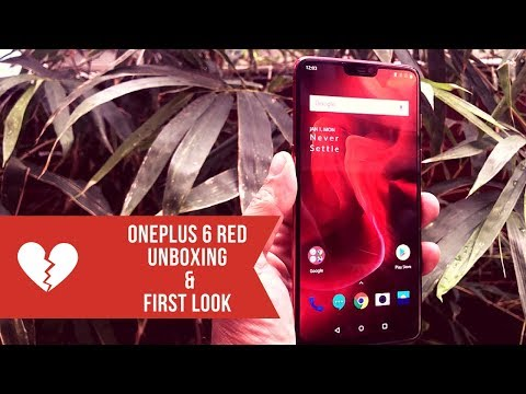 OnePlus 6 Red: Unboxing and 1st look