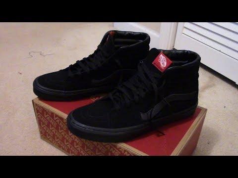 VANS SK8-HI Black/Black (Suede) Review + On Feet