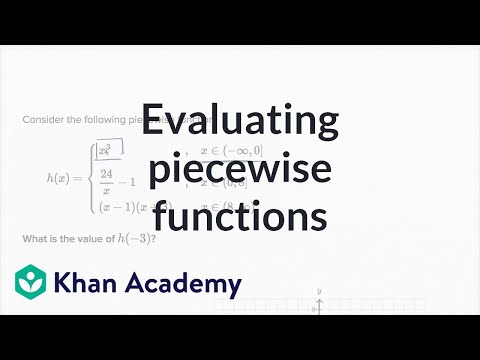Worked example: evaluating piecewise functions (video