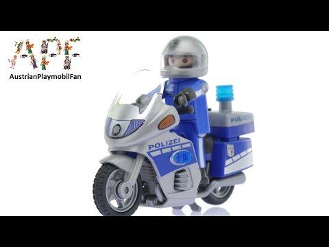 Vidéo PLAYMOBIL City Action 6876 : Moto de policier avec gyrophare