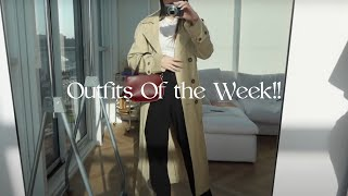 EARLY SPRING OUTFITS OF THE WEEK | weekly vlog
