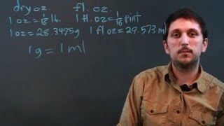 What Is the Difference in a Fluid Ounce and a Weight Ounce? : Math Questions