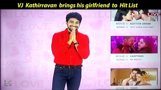 VJ Kathir brings his girlfriend to live show..