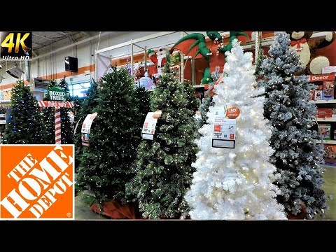ALL CHRISTMAS TREES AT THE HOME DEPOT - Christmas Shopping Christmas Tree Shop (4K)