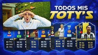TODOS LOS TOTY QUE ME HAN TOCADO EN TODOS LOS FIFA!!   CACHO01