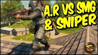 CAN YOU RUN AN A.R WITH A SNIPER?! HELL YES! 22 KILL SOLO SWAT PALI COD BO4 BLACKOUT WIN!