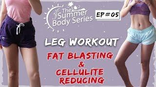 Intense Leg Workout | Fat Burning + Cellulite Reducing Routine by Chloe Ting