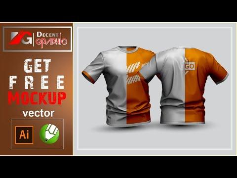 Free 3D T-Shirt Editable Mockup Design in Adobe Illustrator & CorelDraw