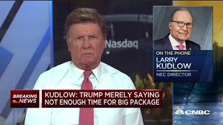 White House advisor Larry Kudlow refuses to say if President Donald Trump wore a mask in Oval Office