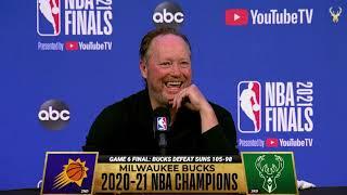 Mike Budenholzer NBA Finals Media Availability | 7.19.21
