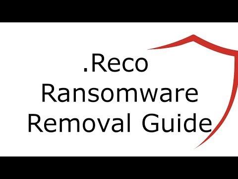 .Reco File Virus Ransomware Removal Guide