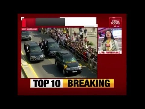 PM Modi – Netanyahu Begin 8KM Roadshow From Ahmedabad To Sabarmati | Live