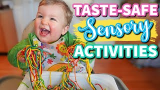 TASTE SAFE SENSORY ACTIVITIES FOR BABIES AND TODDLERS // DIY Baby and Toddler Sensory Activities