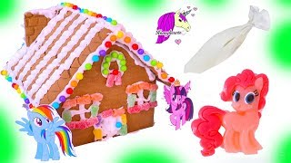 My Little Pony Rainbow Candy Gingerbread Christmas Cookie House Craft Video