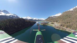 FPV Trans-Champfer Lake-Crossing RC-Plane 360 Camera