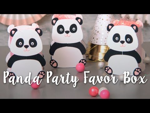 How to Make Panda Party Favor Boxes! Adorable DIY