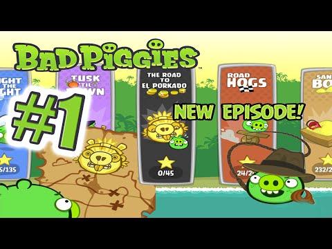 """Прохождение Bad Piggies """"The Road to El Porkado"""" - #1 - СВИНТУСЫ ВЕРНУЛИСЬ [Level 1-4]"""