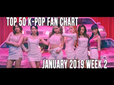 Top 50 K-Pop Songs Chart - January 2019 Week 2 Fan Chart