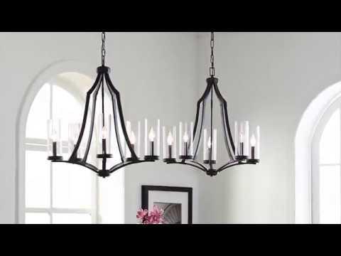 Video for Jacksboro Antique and Dark Copper Nine-Light Chandelier