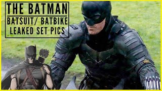 The Batman- Leaked Set Pics of Pattinson Batsuit & Batbike