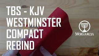 TBS Westminster KJV Compact Red Goatskin Rebind