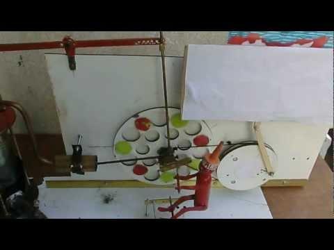 Motore Stirling con pupetto