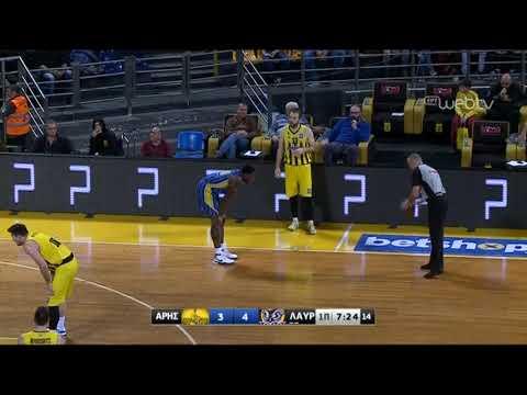 Basket League 2019-2020: ΑΡΗΣ – ΛΑΥΡΙΟ | 21/12/2019 | ΕΡΤ