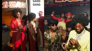21 Savage Throws A 70's Soul Train Party For His 28th Birthday