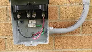 Install 30 amp ac disconnect (run conduit and wires)
