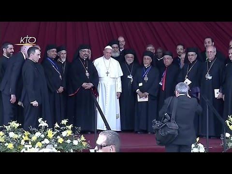 Le Pape François rencontre le clergé, les religieux, les religieuses et les séminaristes égyptiens