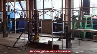 Stillas testet til brudd, beregninger og testing er foretatt hos Kongshavn Industri AS
