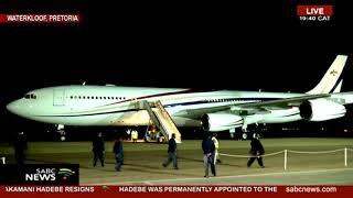 #Inauguration2019   King Mswati III lands in Waterkloof Airbase
