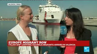 "Aquarius migrants boat arrival: ""the Spanish government took a brave decision"""
