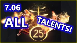 Dota 2 NEW 7.06 UPDATE - ALL Hero Talents!