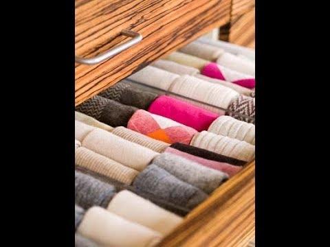 Как складывать носки в кармашек по Методу КонМари.Вертикальное хранение, организация в комоде, шкафу