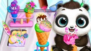 Милый МАЛЫШ панда Готовим цветное МОРОЖЕНОЕ Мультик игра для детей Baby Panda making ice cream