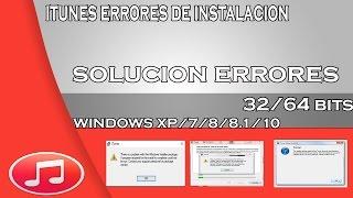 Solución De ERROR De Instalación De ITUNES En Windows 7, 8, 8.1 Y 10 FÁCIL Y RÁPIDO