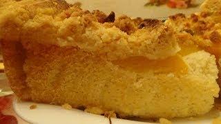 Этот Пирог Приготовит Даже Ребенок! Пирог с Персиками!Очень Простой Рецепт!