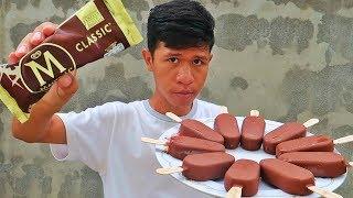 อดข้าว24ชั่วโมงกินไอติมช็อกโกแลต10แท่งจากเซเว่น!!