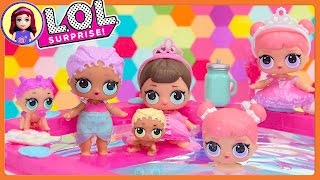 LOL Surprise Dolls Wave 2 Mermaid Twin Babies Ultra Rare in Barbie Pool Kids Toys