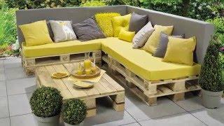 Banc lounge et table en palettes – Etape par étape
