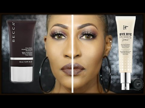 IT Cosmetics Bye Bye Pores Primer Review & Becca Primer Comparison