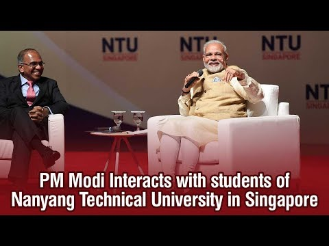 PM Modi Interacts with students of Nanyang Technical University in Singapore
