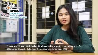 Tips Mendapatkan Beasiswa dari Khansa Dinar Adibah