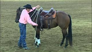 Training Horse Not To Walk Off When Mounting - Clinton Anderson