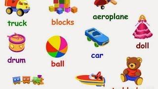 vamos a aprender el nombre de muchos juguetes en inglés