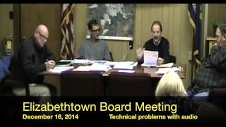 preview picture of video 'Elizabethtown, NY December 16, 2014 Town Board Meeting'